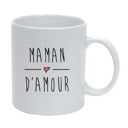 """Mug personnalisé  Maman d'amour"""" cadeau fête des mères"""