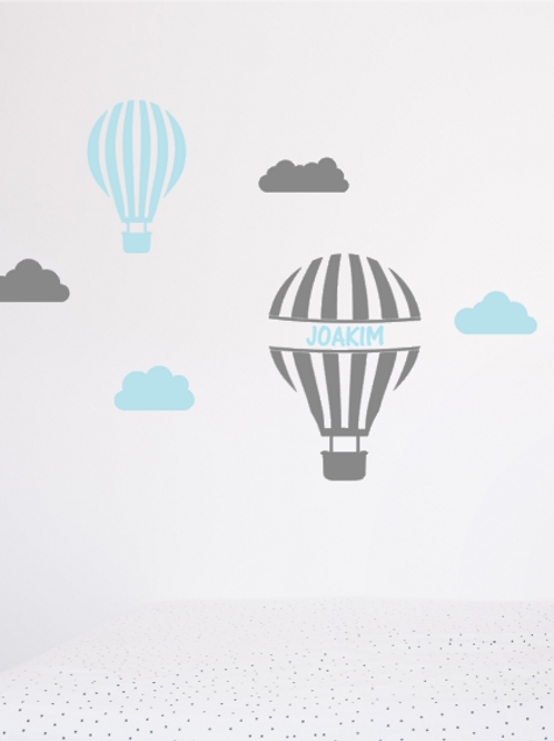 """Sticker personnalisé """"montgolfière"""""""