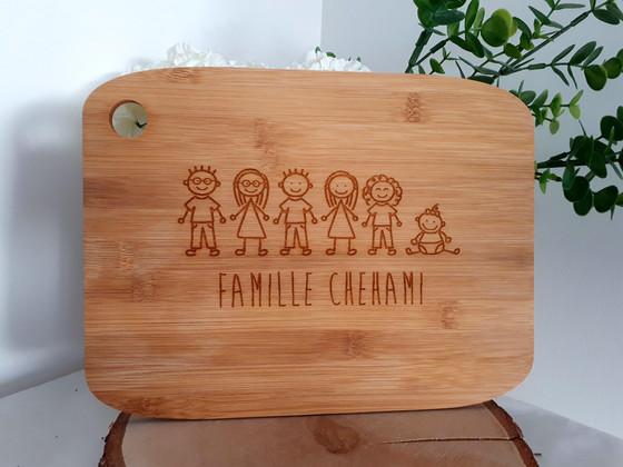 planche personnalisée famille
