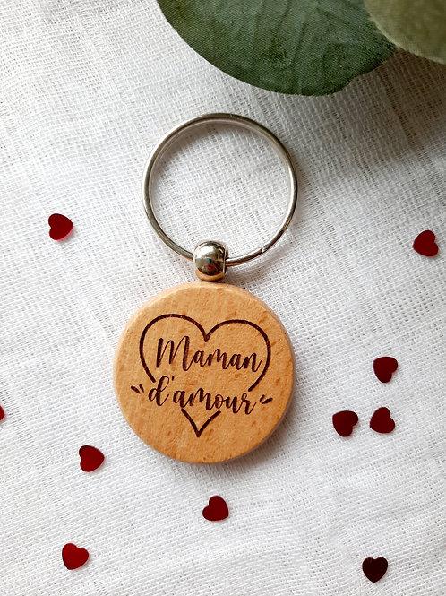 """Porte-clés personnalisé """"Maman d'amour"""""""