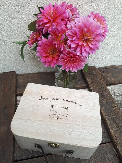Petite valise en bois personnalisée