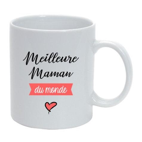 """Mug personnalisé  Meilleure maman du monde """" cadeau fête des mères"""