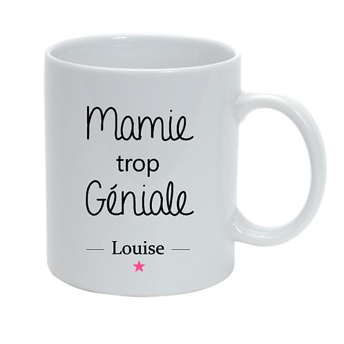 Mug personnalisé Mamie trop Géniale fête des grand-mères