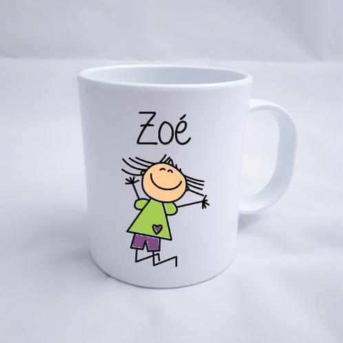 Mug incassable avec dessin de votre enfant