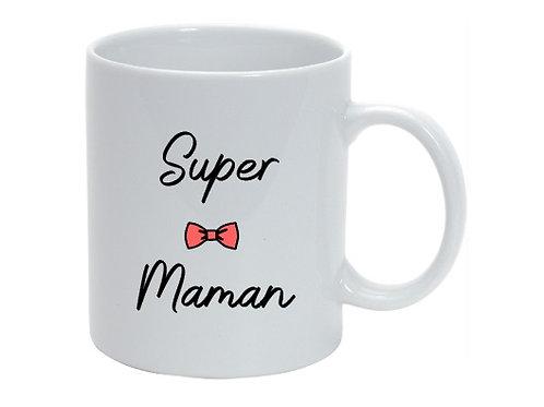 """Mug personnalisé """"Super Maman"""" cadeau fête des mères"""