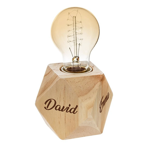 Lampe en bois origami