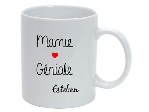 Mug personnalisé Mamie Géniale fête des grand-mères