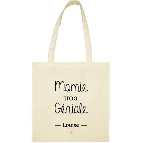 Tote-bag / sac personnalisé Mamie trop géniale fête des grand-mères