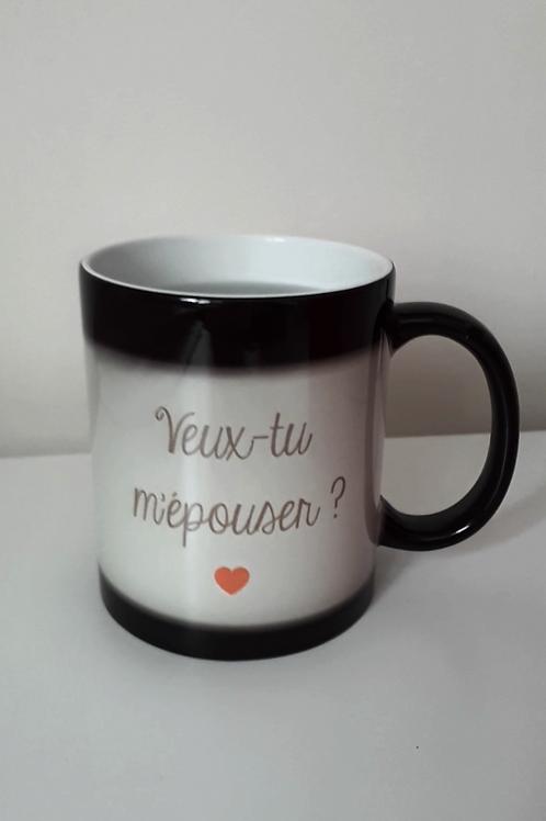 Mug / tasse magique personnalisé demande en mariage suprise