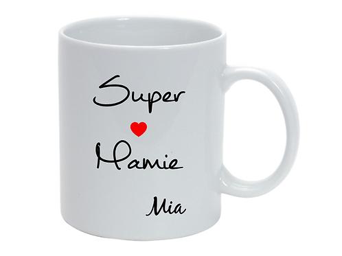 Mug personnalisé Super Mamie fête des grand-mères