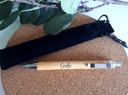 Stylo personnalisé en bambou