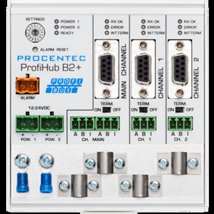ProfiHub B2+R - 3 Segment redundant PROFIBUS DP Repeater
