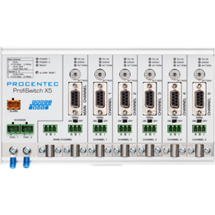 ProfiSwitch X5 - PROFIBUS baudrate switch hub
