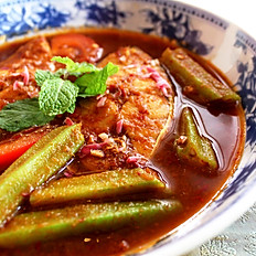 Amma's Fish Curry with Ladyfingers