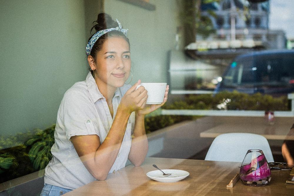 Coffee at Nourish Cafe, Apia Samoa.