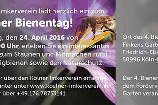 4. Kölner Bienentag am 24. April 2016