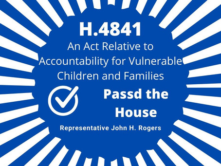 Rep. Rogers Votes In Favor of H.4841 in Favor of Foster Care Reform