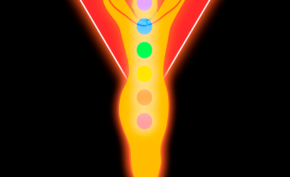 Bikram Yoga Logo close-up