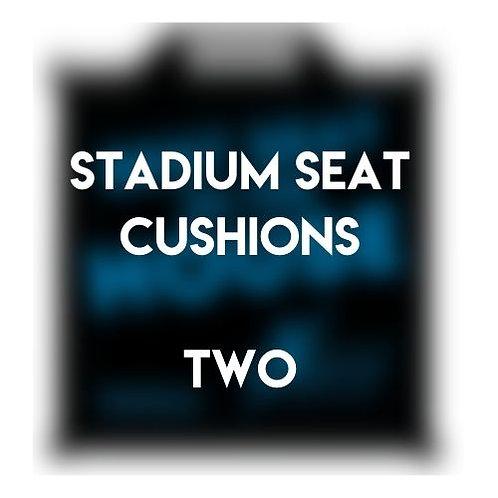 Two Stadium Seat Cushions