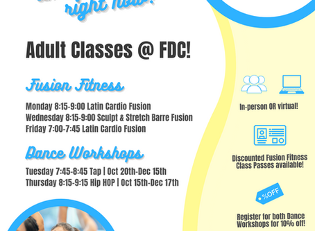 New Classes for All Ages