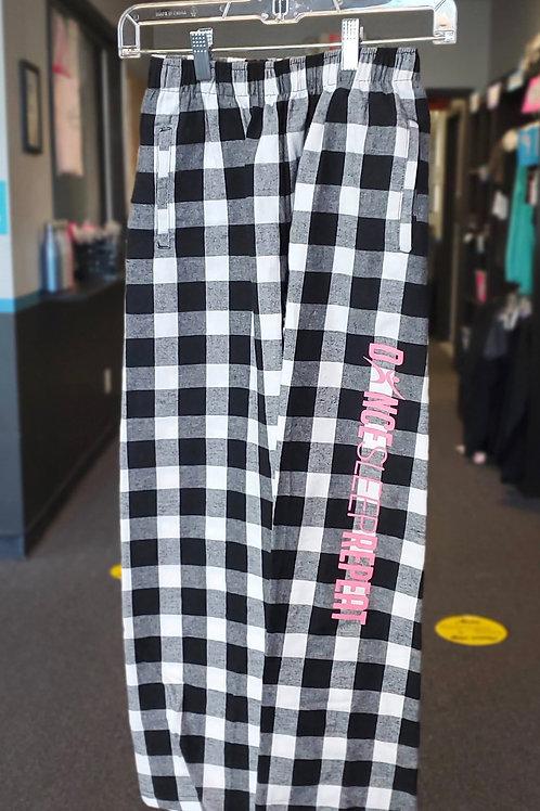 Black/White SleepDanceRepeat PJ Pants