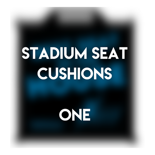 One Stadium Seat Cushion