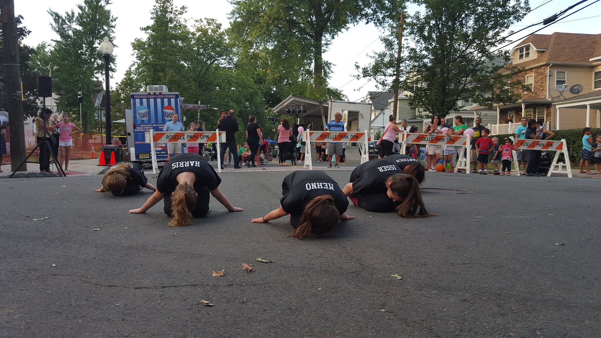 dancers leaning on ground in nj