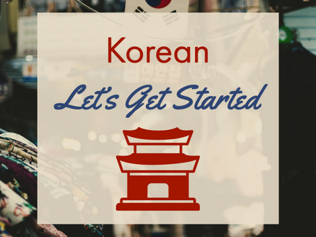 Korean - Let's Get Started