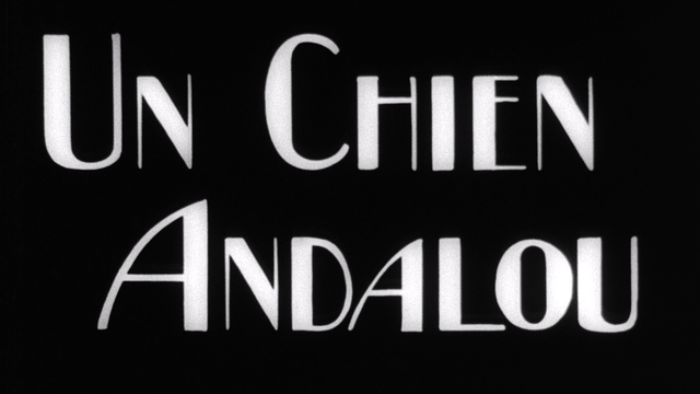 "The title card for the film ""Un Chien Andalou"""