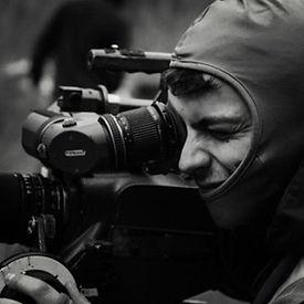 cinematographer using 35mm film ARRIflex camera