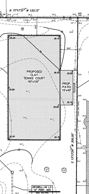 Tennis and Patio Plan
