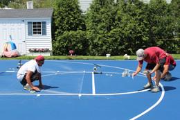 Full Court line painting
