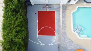 Driveway Half Court Basketball Installation