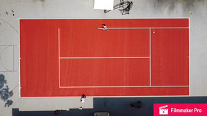 Terra cotta colored Tennis court, French Open inspired (linework time lapse)