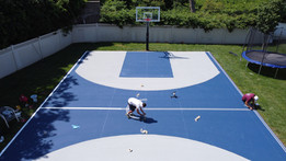 Line painting for full court basketball