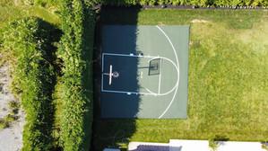 Half Basketball Court, Green