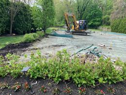 Old Tennis Court Demolition