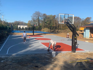 Painting Basketball Courts