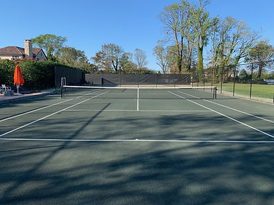 After clay hydro court in long branch on