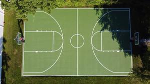 Full Basketball court, Green