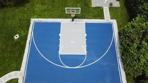 Half basketball court, Blue and Gray