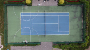 Specialty Court: Tennis court and full court basketball