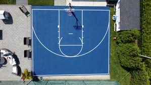 Half basketball court, Blue