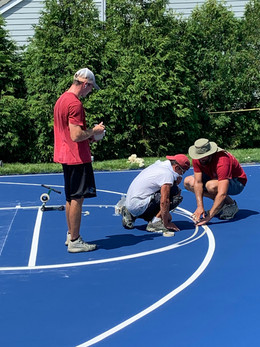 Measuring line painting for accuracy
