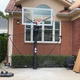 Driveway Hoop Installation