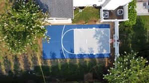 Half Court Basketball Installation