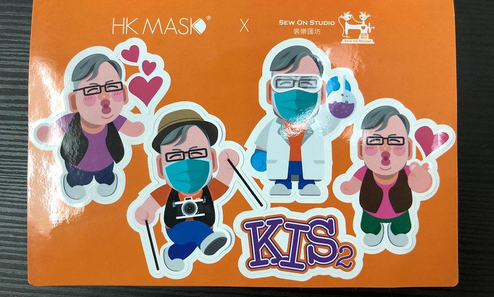 K Kwong 造型貼紙