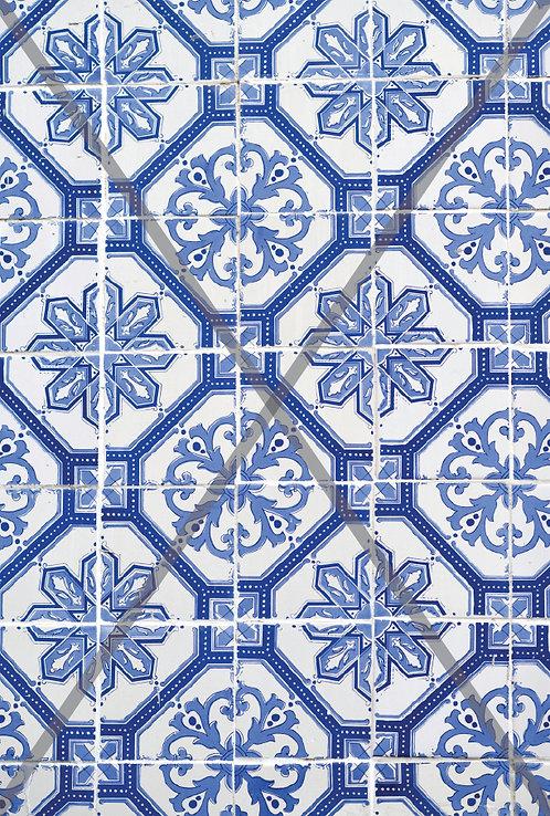 Azulejo tile pattern digital immage