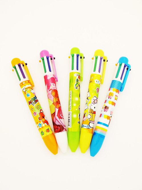 BRP0601   multi 6 color ball pen