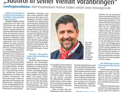 """""""Südtirol in seiner Vielfalt voranbringen"""""""